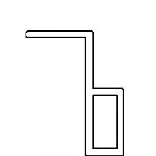 Plisséhor PLISSÉ17 in inzet klemhor 26mm - enkele uitvoering Inzethorren