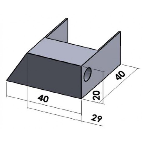 Plisséhor PLISSÉ28 in frame - zwevende uitvoering - 1 zijde schuine dorpel 20mm Plisséhorren